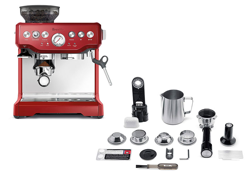 BREVILLE BES870XL THE BARISTA EXPRESS® CRANBERRY RED