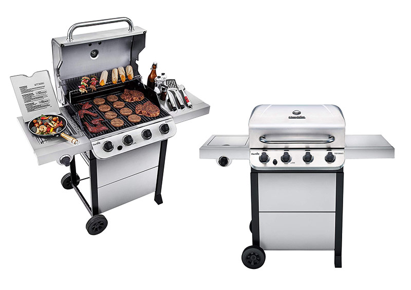 Char-Broil Cart Style Stainless Steel 4-Burner Gas Grill