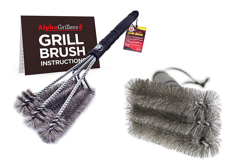 "Alpha Grillers Best 18"" Grill BBQ Cleaner Brush"