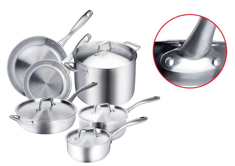 Duxtop Whole-Clad Stainless Steel Induction Ready Cookware 10-Pc Set
