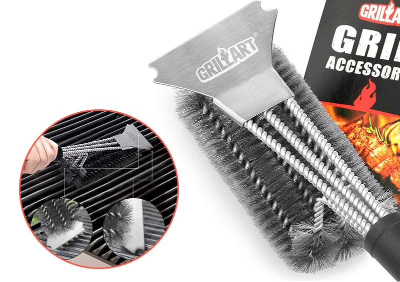 GRILLART Grill Brush and Scraper for Grill