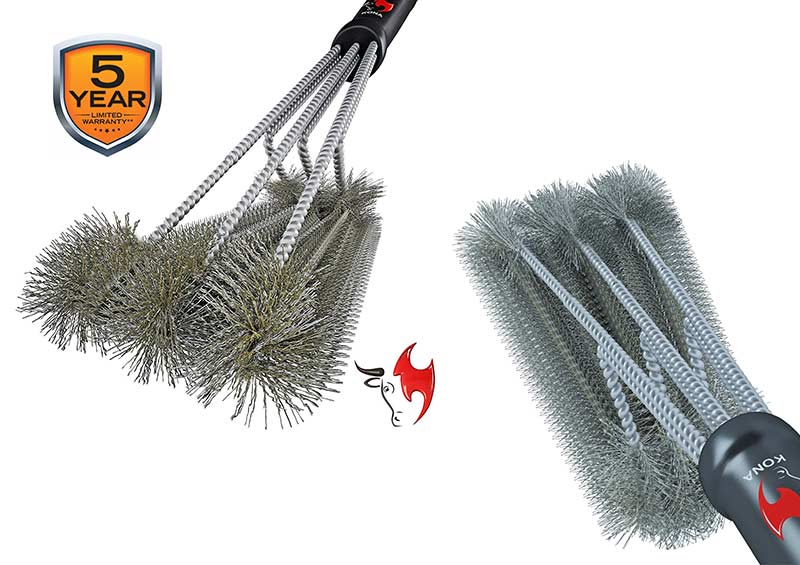 "Kona 360° Clean 18"" 3-in-1 Grill Brush"