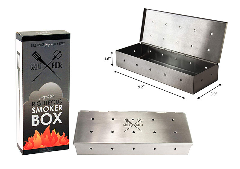 Grill Gods Smoker Box for BBQ Grill