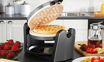 Waffles are by far our favorite breakfast food